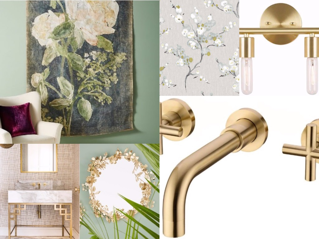 Mini Makeover: Half Bath Mood Board